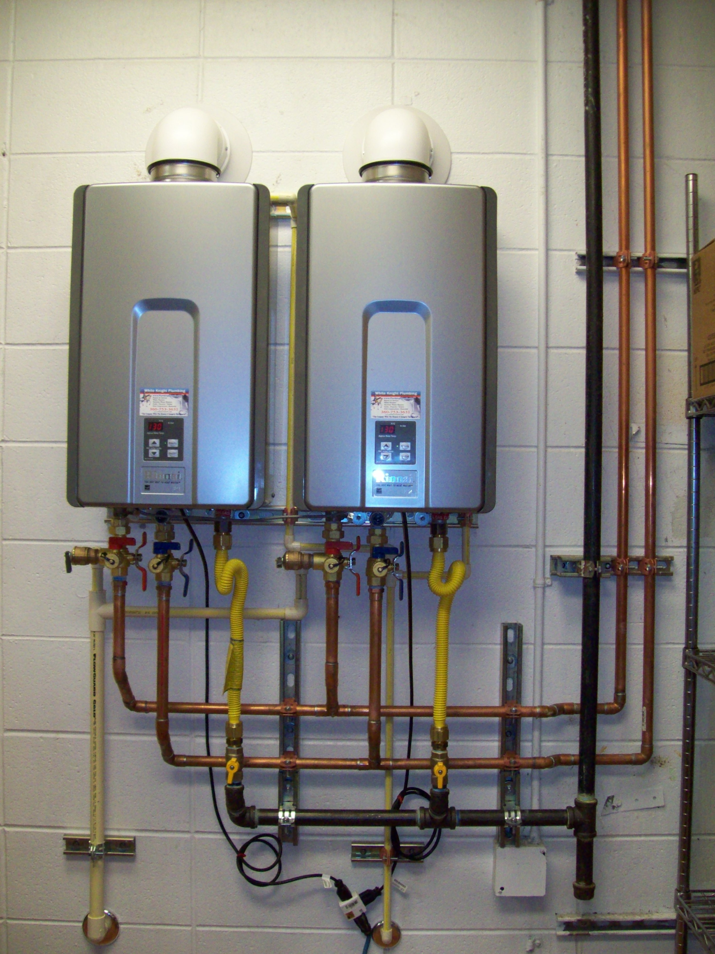 In Line Instant Hot Water : Tankless water heaters to save space and money candy